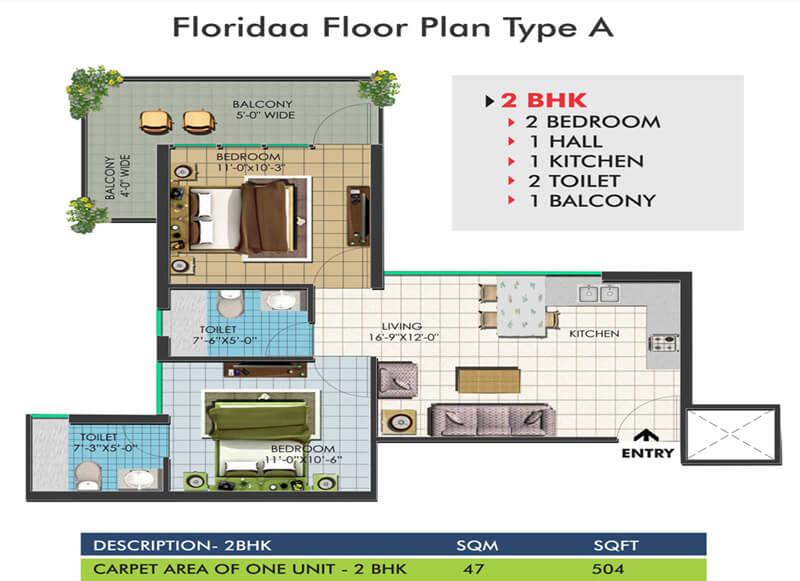 Floridaa Floor Plan Type A