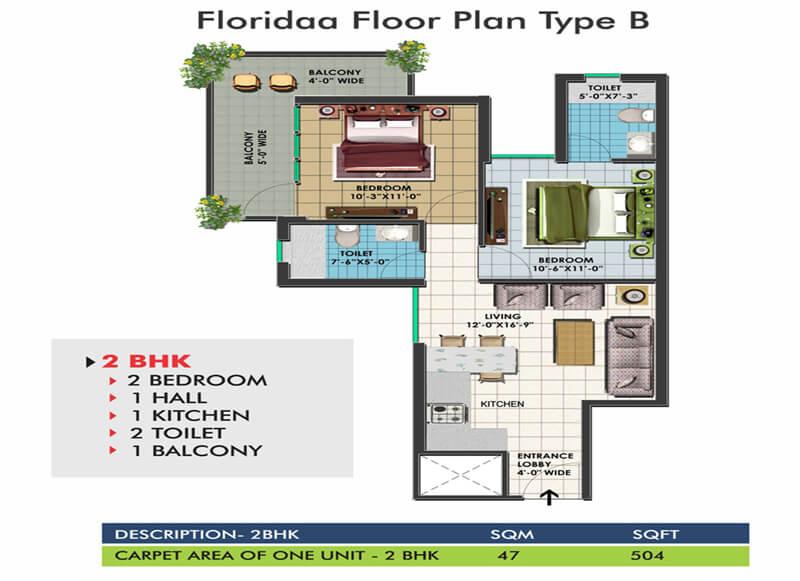 Floridaa Floor Plan Type B