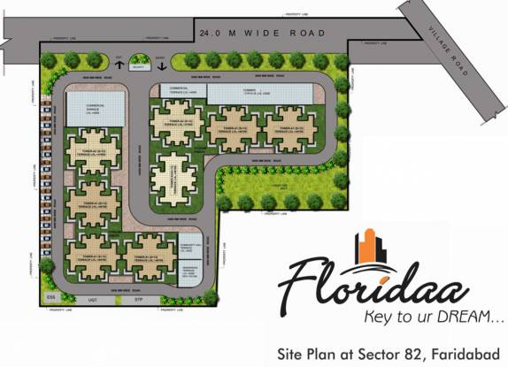 Floridaa Faridabad Layout Plan